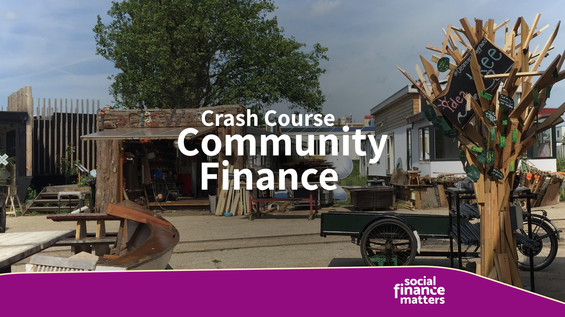 Crash course Community Finance. Extra locatie op 5 december
